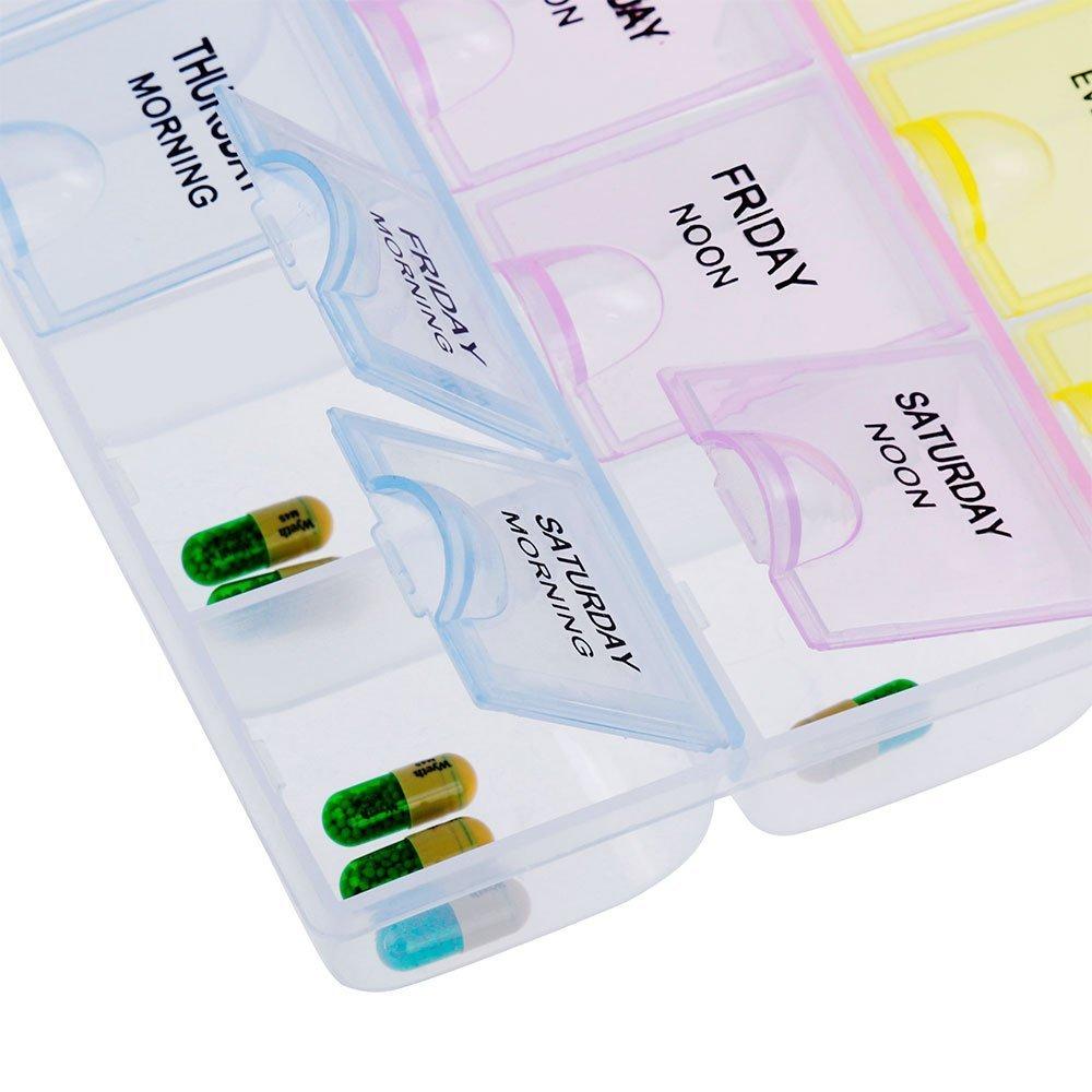 Faburo Tablettenbox Pillenbox 7 tage Pillendose Medikamentenbox ...