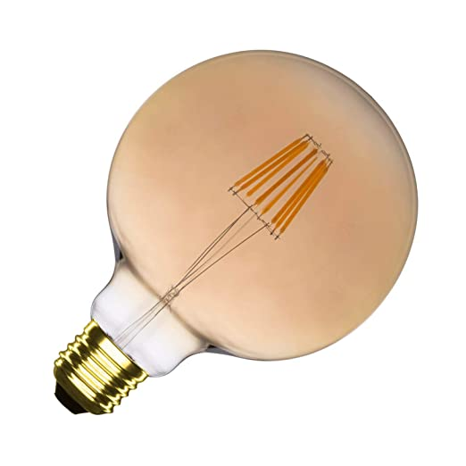Bombilla LED E27 Regulable Filamento Supreme Gold G125 6W efectoLED