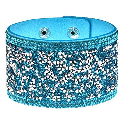 - ABIGAIL READ Fashion Man Wide Crystal Bracelets&Bangles Women Girls Handmade Bracelet Wristband Party Holiday Jewelry Gift,D