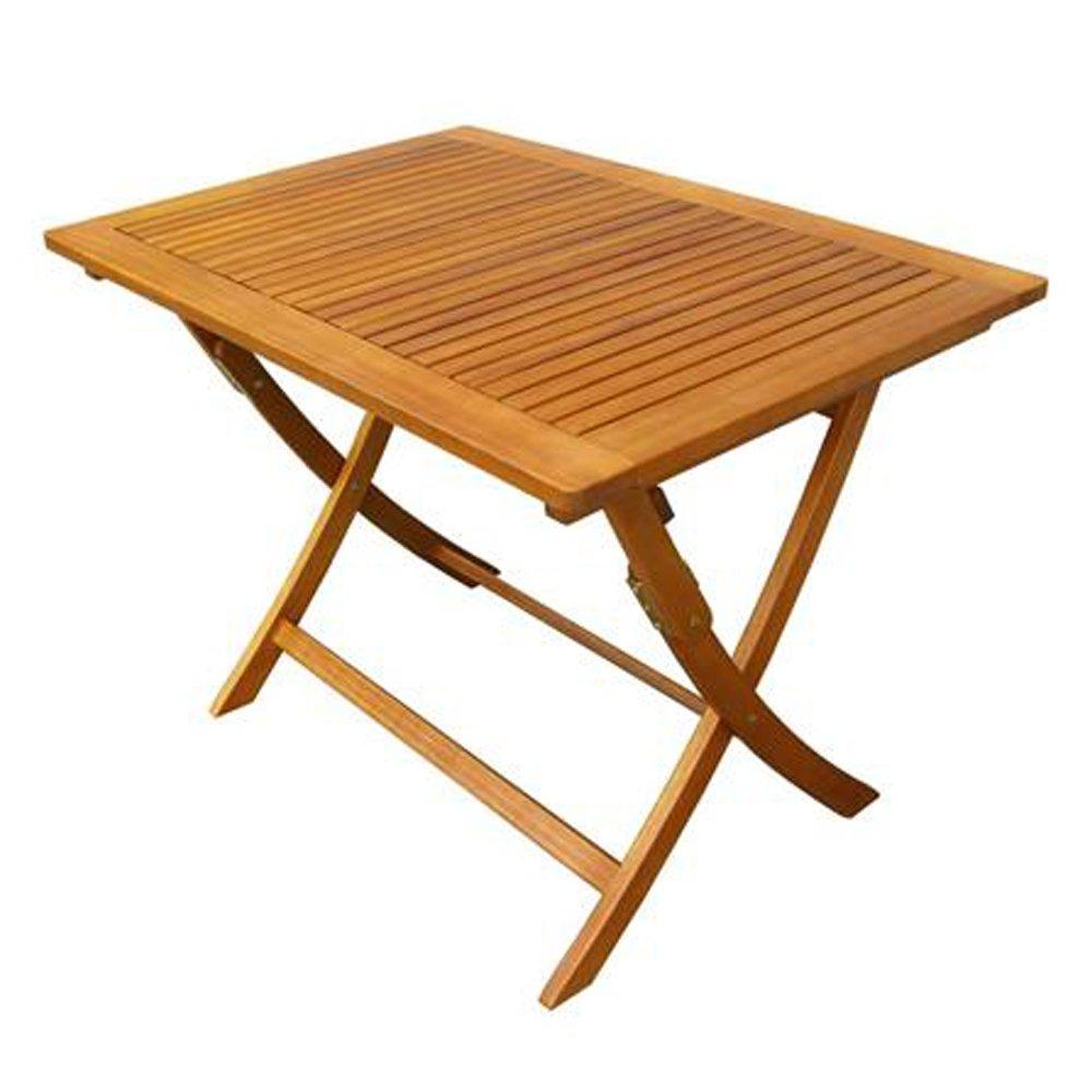 Tavolo pieghevole legno di acacia gold 100x70cm arredo esterno ...