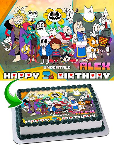 Undertale Edible Image Cake Topper Party Personalized 1/4 Sheet