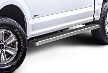 2PCS STAINLESS STEEL RUNNING BOARD STEP BAR FOR 2015-2020 FORD F150 CREW CAB
