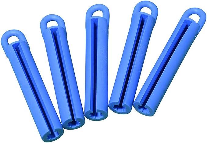 Cuppa - Juego de Accesorios para Tacos de Billar (5 Unidades, Goma), Color Azul: Amazon.es: Deportes y aire libre