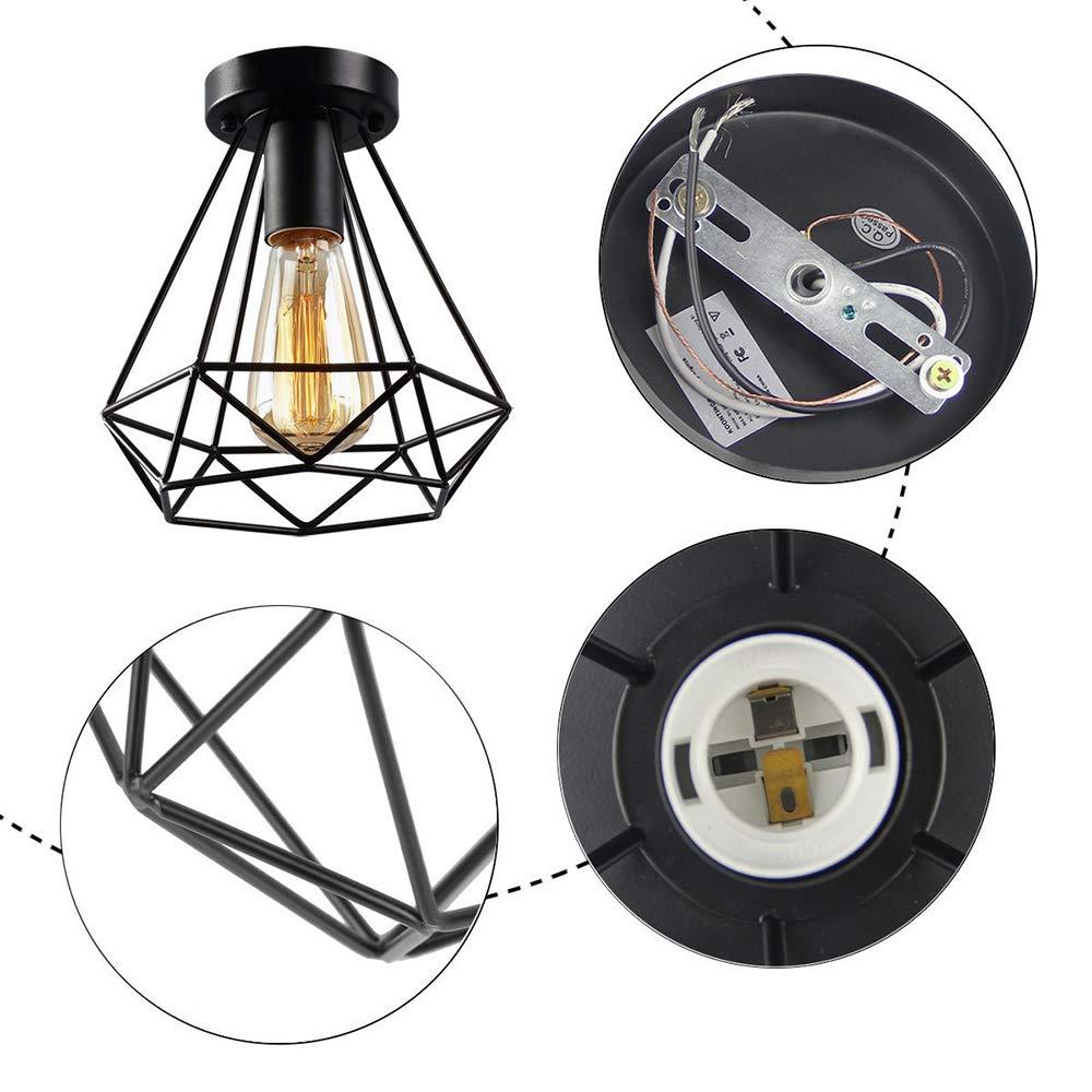 Amazon.com: Lámpara de techo nórdica minimalista de estilo ...