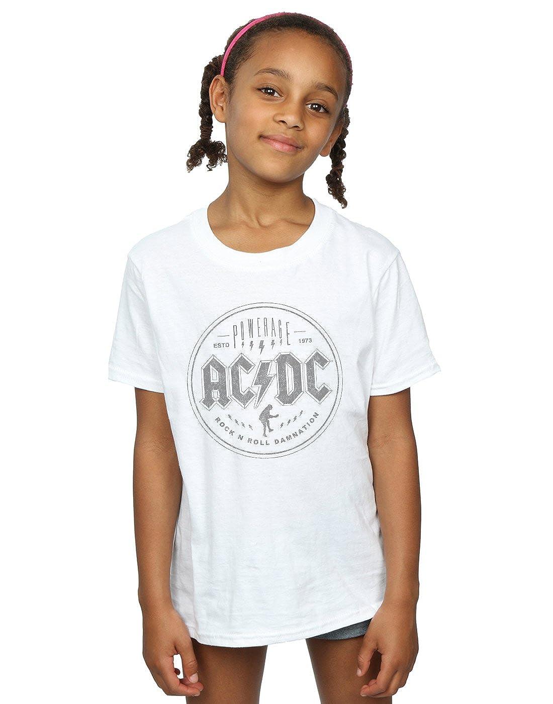 AC/DC Girls Rock N Roll Damnation Black T-Shirt Absolute Cult