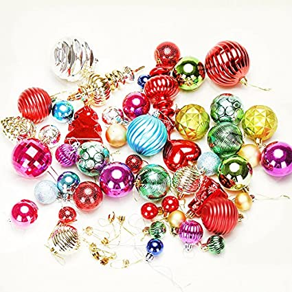 wddh large christmas balls bulk decor electroplating ball for christmas tree outdoor christmas ball ornaments red - Outdoor Christmas Balls