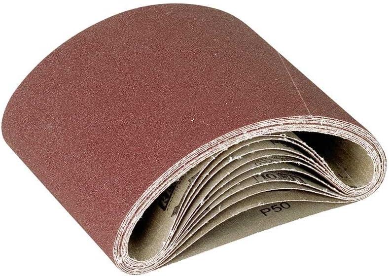 RETOL bandes abrasives G24 p corindon normal ponceuses /à bande Lot de 10 551 x 200 mm