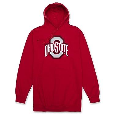 beb11e23040 Ohio Sate Buckeyes Mens Logo Hoodie Sweatshirt with Kangaroo Pockets Apparel  Red XLT