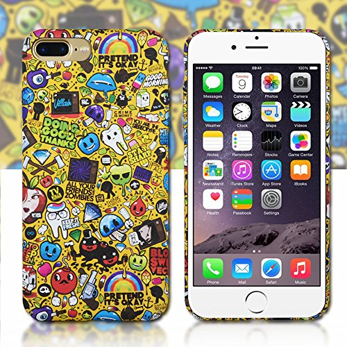 Clouds iPhone 7 Plus Case/iPhone 8 Plus Cute Case,Premium Luminous Cool 3D Emboss Funny Cartoon Pattern Slim Hard PC Protective Back Cover Case for Apple iPhone 7/8 Plus-Yellow