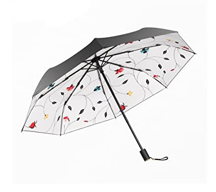 Paraguas Plegable Paraguas de Viaje Compacto Ligero Simple Ms A Prueba de Viento Anti UV Parasol
