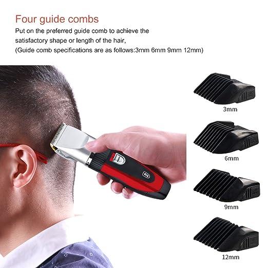 SURKER Profesional cuchilla eléctrica Men s Trimmer cortadora de pelo  máquina de afeitar eléctrica Maquinilla de afeitar barba recortadora  cortadora recorte ... 774863358d30