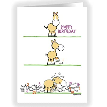 Amazon Funny Birthday Card Horse Taps Out Number Of Birthdays