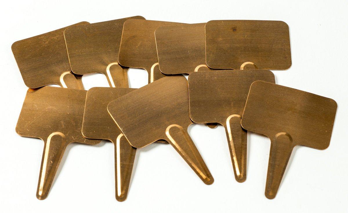 100/St/ück Nutley s Kupfer Pflanze Etiketten