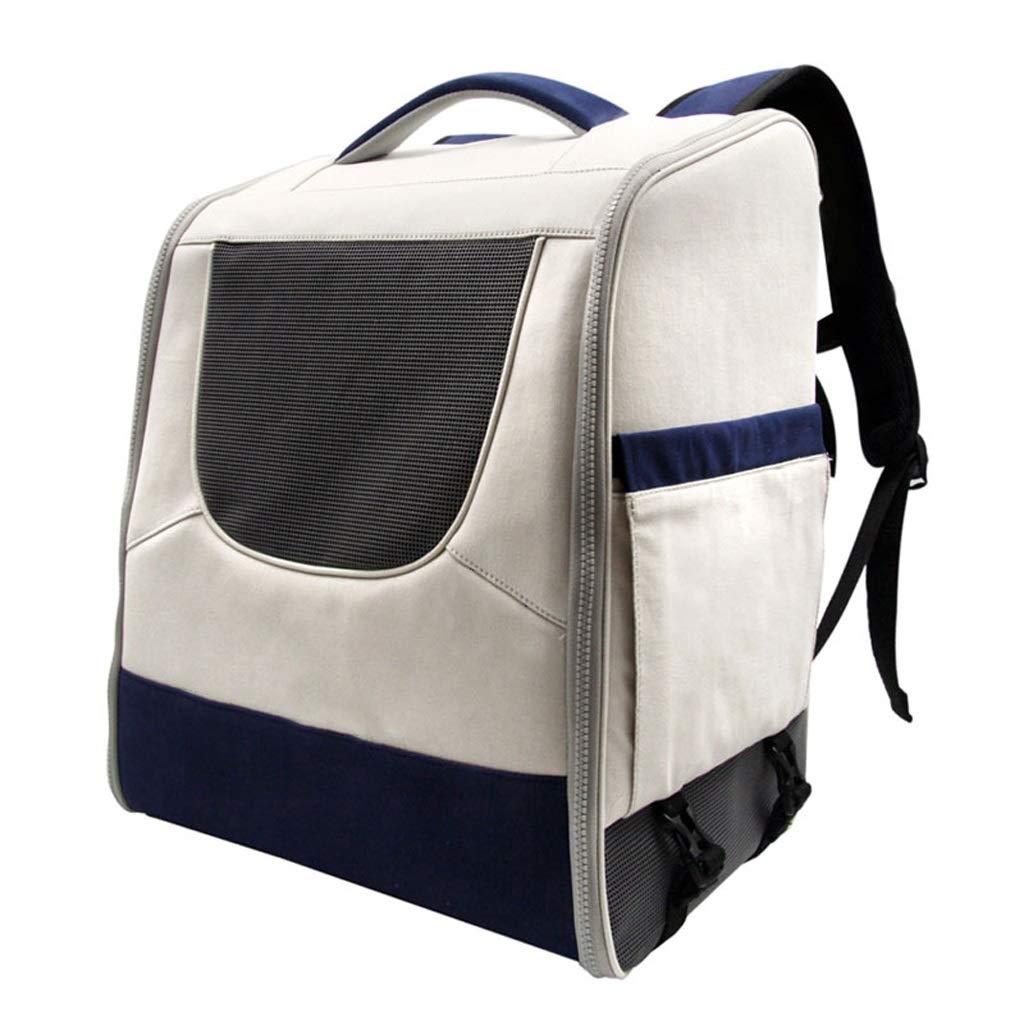 White LSLMCS Fashion Pet Bag, Pet Out Bag Portable Pet Bag Cat Bag Puppy Backpack Pet Bag for Excursions (color   White)