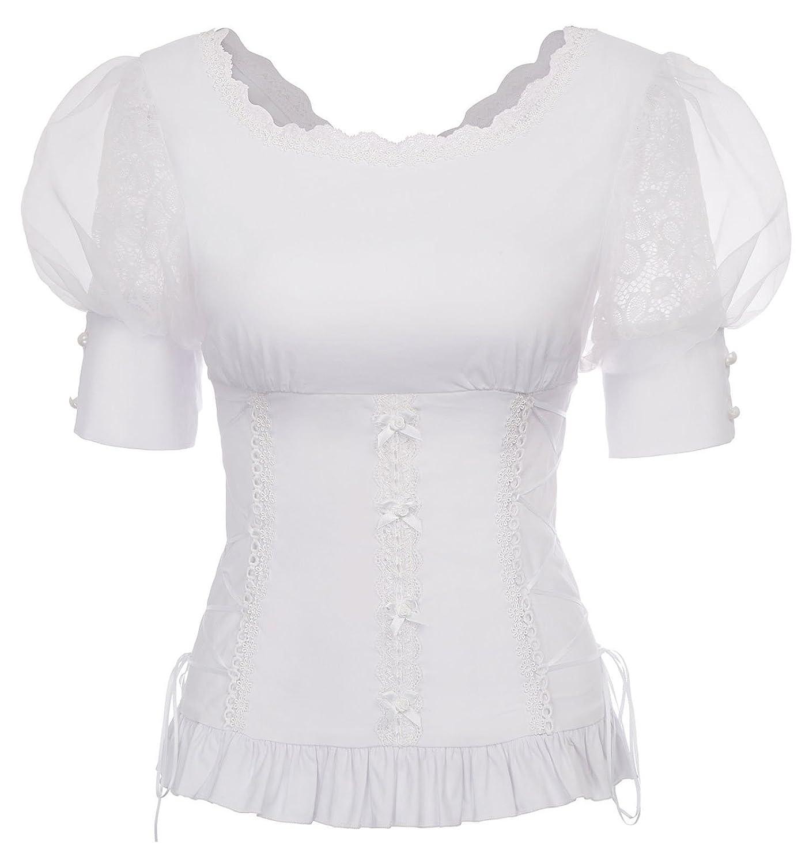 Belle Poque Women's Victorian Gothic Renaissance Stretchy Blouses Shirts