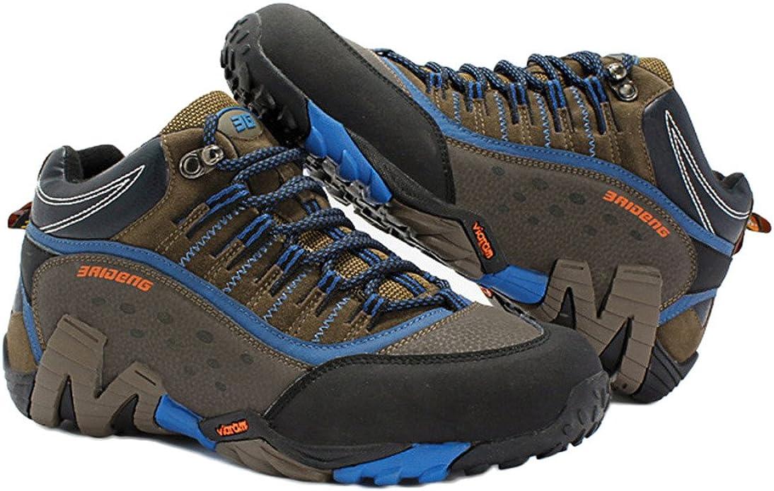 Zapatos De Senderismo para Hombres A Prueba De Agua Zapatos Ligeros De Alta Subida para Caminar Calzado De Cuero Al Aire Libre De Gran Tamaño: Amazon.es: Zapatos y complementos