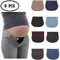 KAIMENG Embarazo de Maternidad Cinturón elástico Ajustable, Botón extendido Pantalones (8 Piezas - Color Aleatorio)