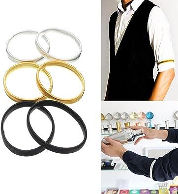 Eros 2pcs de los titulares de la camisa de manga contra deslizamiento pulsera elástica del brazo banda brazalete: Amazon.es: Joyería