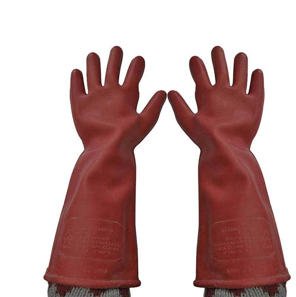 Anti-voltage 12KV insulated gloves anti-electric work labor insurance rubber gloves anti-high voltage special safety protection tools by LIXIANG