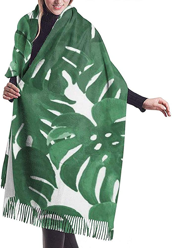 PQU Awesome Mujer Bufanda, Planta De Queso Monstera Pintado ...