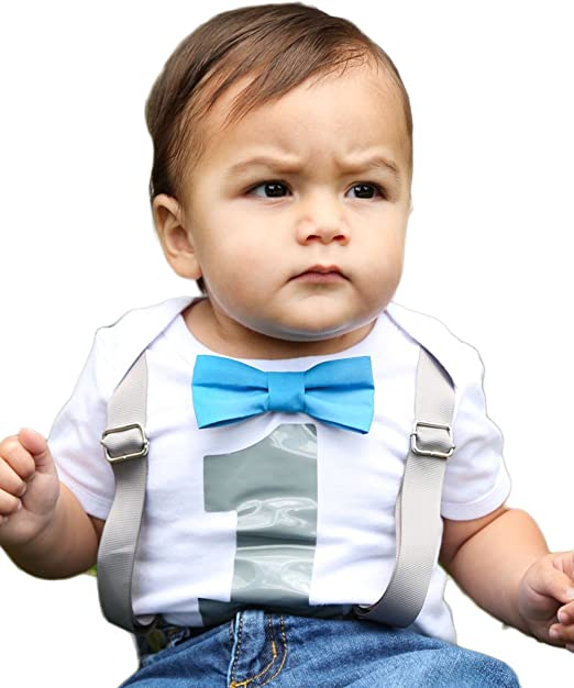 1st Birthday Outfit Boy.Noah S Boytique Baby Boys 1st Birthday Outfit First Bodysuit With Bow Tie And Suspenders