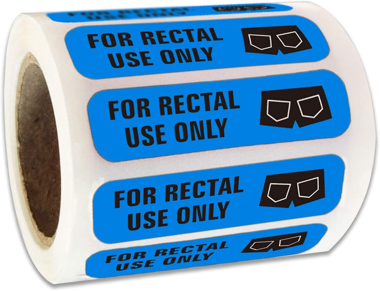 for Rectal Use Only Stickers-1.5X3//8 Blue Permanent Adhesive Labels/Pack of 500