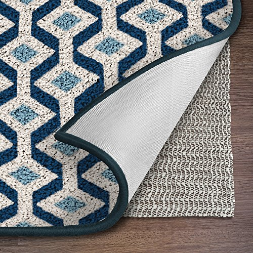 Ninja Brand Gripper Rug Pad, Size 8 Feet x 10 Feet, for Hardwood Floors and Hard Surfaces, Top Gripper Adds Cushion and Maximum Protection, Works with All Types of Rugs, Pads Available in Many Sizes (Hardwood Floor Rugs Area Rugs Best)