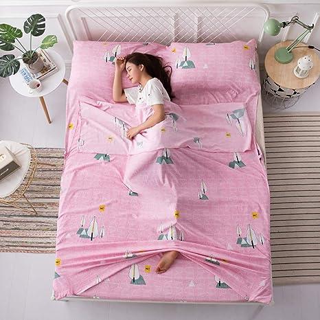 Saco de Dormir de algodón y Microfibra, para Dormir de Viaje ...