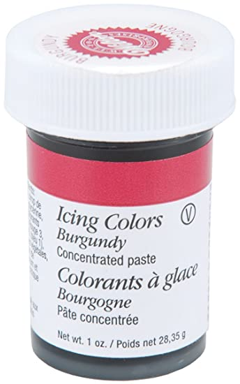 Amazoncom Wilton Icing Colors 1Ounce Burgundy Arts Crafts