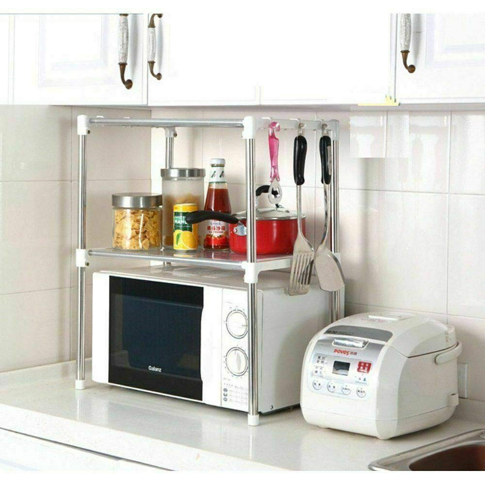 Home Flair Kitchen Organiser (Microwave Stand with Storage Shelves)