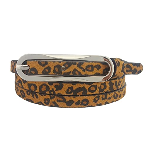 f1fa0ad1c Skinny Faux Leopard Print Belt at Amazon Women's Clothing store: