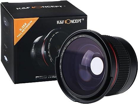 K&F Concept - 58MM Lente Ojo de Pez 0.35X con Macro Súper Gran ...