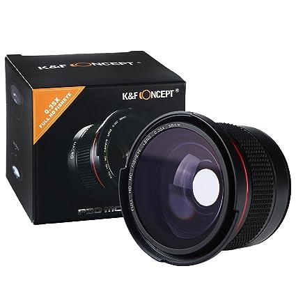 cd3edb4664f89 K F Concept 58MM 0.35X HD Ultra Claro Ojo de Pez Lente con Objetivo súper  Gran Angular W  Macro Close Up ...