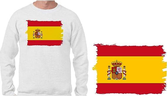 MERCHANDMANIA Sudadera Bandera ESPAÑA Pais Unido Sweatshirt: Amazon.es: Ropa y accesorios
