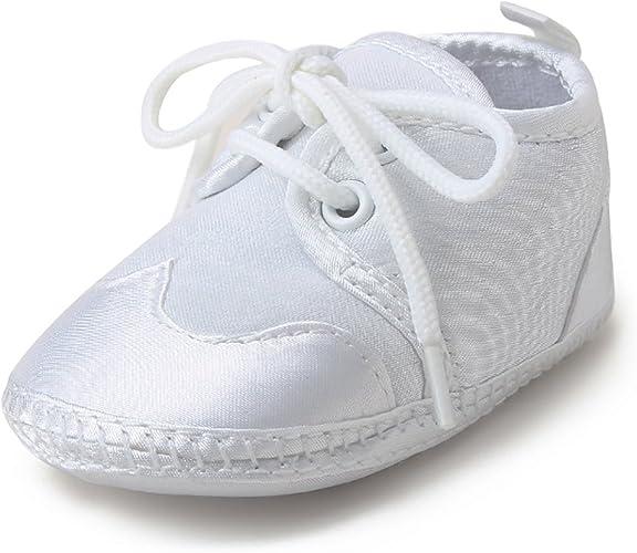 Newborn Infant Boot White Christening Baptism Wedding Baby Boys Girls Shoes