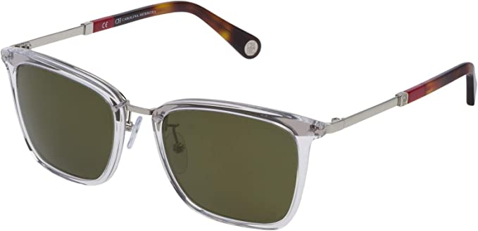 Carolina Herrera Gafas de Sol SHE10552880G (Diametro 52 mm), Transparente, 52/20/140 Unisex-Adult: Amazon.es: Ropa y accesorios