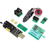 Homyl USB Programmer CH341A + SOIC8 Clip + 1.8V + SOP8 SOIC8 Adapter,Suitable for Amateur Programmers of 24 and 25 Series Flash