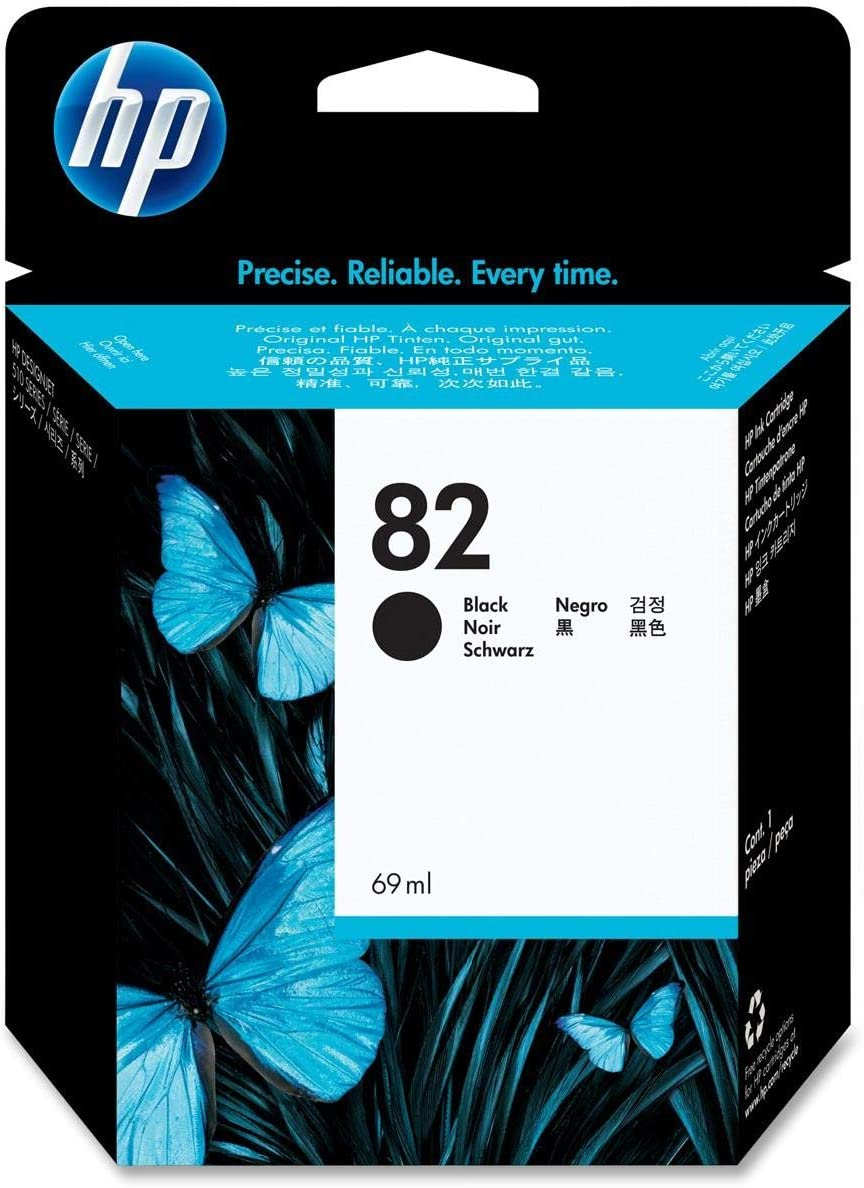 HP 82 69-ml Black Ink Cartridge for HP Designjet 510ps CJ996A and CJ997A Printers (CH565A)