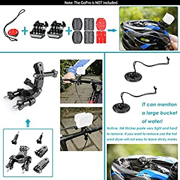 Neewer 44-in-1 Action Camera Accessory Kit, Compatible With Gopro Hero 45 Session, Hero 1233+456, Sj40005000, Nikon & Sony Sports Dv In Swimming Rowing Climbing Bike Riding Camping & More 4