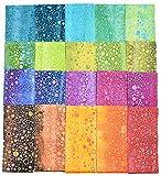 Balibatiks 2.5 Inch Premium Batik Jelly Rolls, 40 Pack 2 X 20 Colors, (2.5 Inches by 44 Inches) Batik Strips JC6008