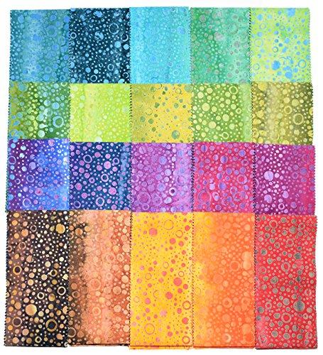 Balibatiks 2.5 Inch Premium Batik Jelly Rolls, 40 Pack 2 X 20 Colors, (2.5 Inches by 44 Inches) Batik Strips JC6008 by Java Batiks