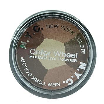 Amazon Com N Y C Color Wheel Mosaic Eye Powder Colour Brown Eyed