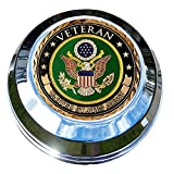 MotorDog69 Indian Gas Cap Coin Mount Set with Army Veteran for Chieftain, Chief Classic, Chief Vintage, Dark Horse, Roadmaster, Scout…