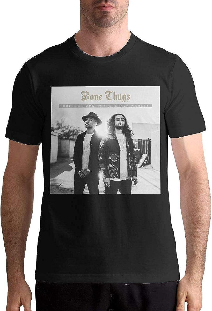 HUANGQINF Bone Thugs-n-Harmony Coming Home Comfortable Music Theme Men's Short Sleeve T Shirt