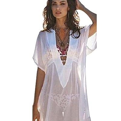 ❤️ Amlaiworld Vestidos de Playa Mujer Sexy Verano Mujer Traje de baño de Gasa Cubra Camisa Vestidos de baño Bikini Cover up Trajes de Baño Cubrir Mujer Camisolas y Pareos: Ropa y accesorios