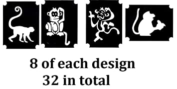 d1689f88764b6 Insects Animals and Birds Tattoo Henna Glitter Stencils Collection (Monkey Tattoo  Stencils)