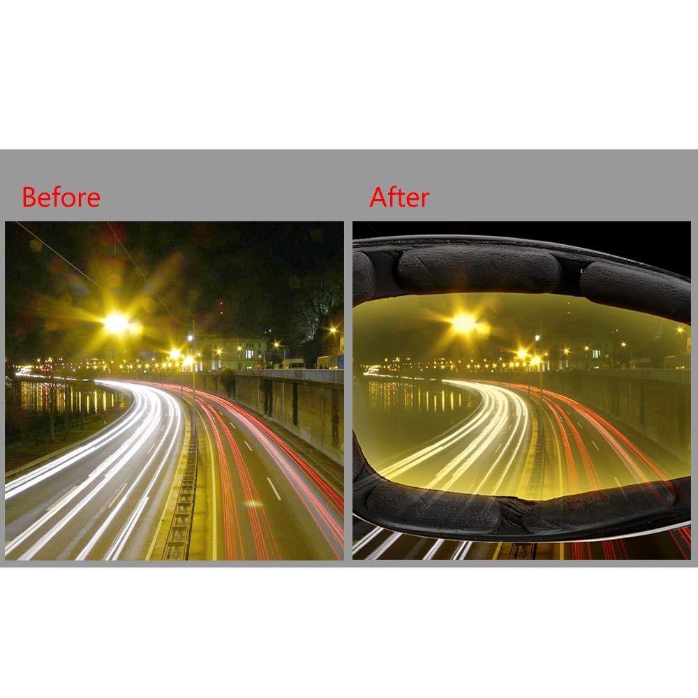 Gelb Nachtsichtger/ät Schutzbrille Auto Nachtsichtbrille UV-Schutz Motocrossbrille Blendschutzausr/üstung Sonnenbrille