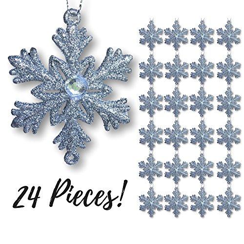 Silver Snowflakes - Set of 24 -2½