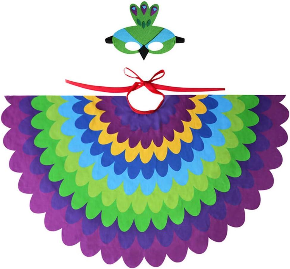 TTXLY Alas de Capa de Halloween Niños Niños Niñas Hadas Pájaro ...