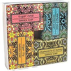 Shea Butter Soap Sampler - Boxed Set of 4 Assorted Scents (Exfoliating Bundle 2)